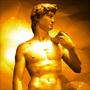 Efecte cu lumina pe statuia lui David