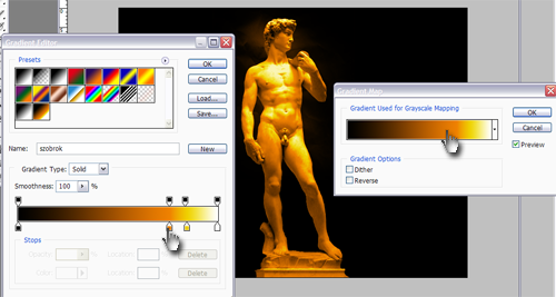 Statuie David de Michelangelo - modificat in Photoshop!