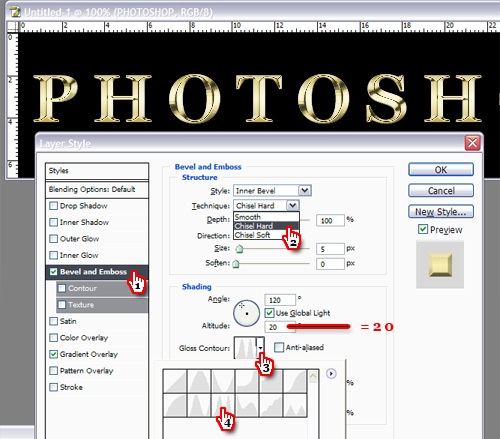 Efect text Photoshop - Bevel and Emboss!
