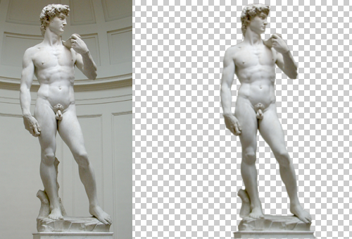 Photoshop - editare sculptura lui David!