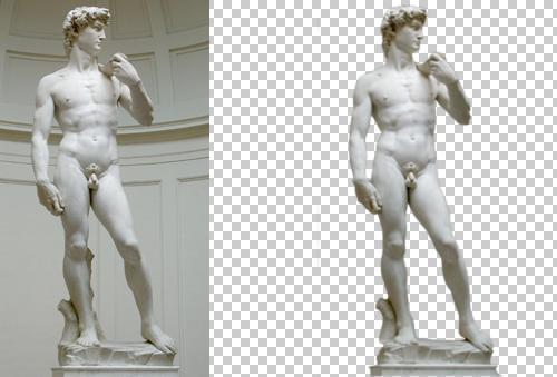 Photoshop - editare sculptura lui David!